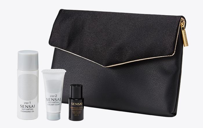 Sensai crna torbica s mini pakiranjima proizvoda